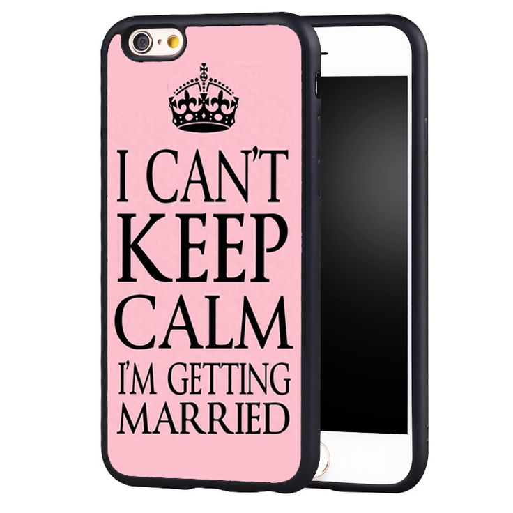 Pink Keep Calm Wedding Bride Printed Protective Soft TPU Mobile Phone Case For iPhone 6 6S Plus SE 5 5S 5C 4 4S Back Shell Cover
