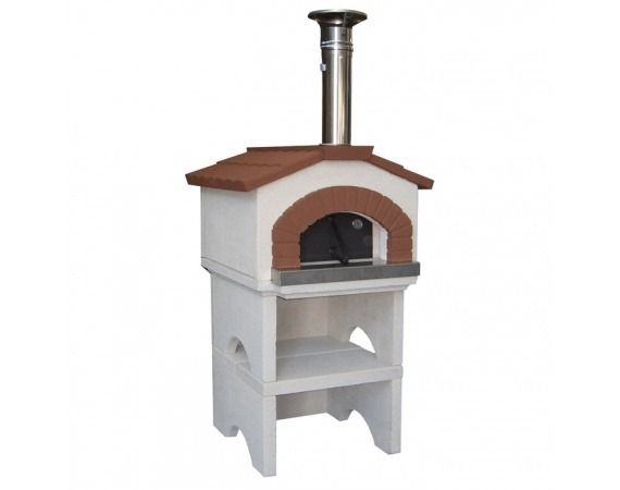 http://safraliotis.gr/fournoi/ φούρνος ponza προκατασκευασμένος για κήπο που  γίνεται με ένα ειδικό μείγμα από  πυρίμαχο τσιμέντο, πηλό και  φινίρισμα υψηλής θερμικής και μηχανικής αντοχής και καμινάδα από χάλυβα. Εξοπλισμένο με σιδερένια πόρτα με θερμόμετρο και γραμμή κόλλας Fix για τη συναρμολόγηση του φούρνου που γίνετε εύκολα μέσα 15 λεπτά  και δεν χρειάζεται τεχνικός για την συναρμολόγηση του. Ιδιαίτερα καλαίσθητος και είναι ιδανικός για κήπο,αυλές αλλά και μπαλκόνια και βεράντες
