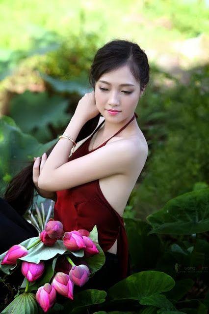 Beautiful girl in toilet vietnam