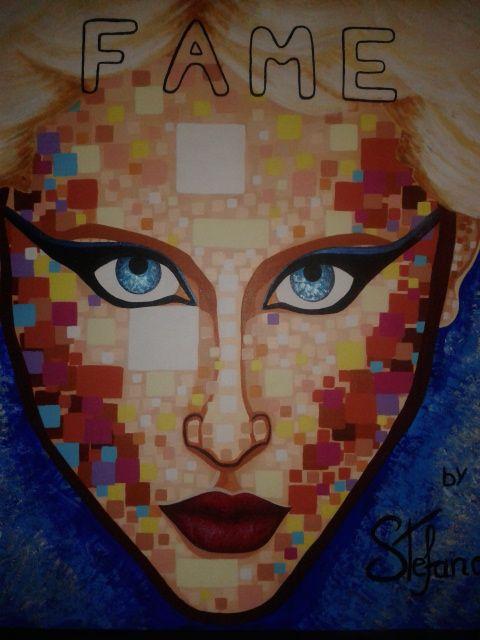 Fame by STEFANO acrylic on canvas fashion art Nadja Auermann 2015 portrait,painting,painter,acrylic,fashion,fashionart,supermodel,modernpainting