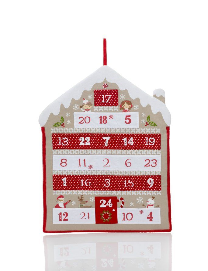 Gingerbread house fabric advent calendar m and s for Pinterest advent