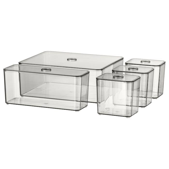 GODMORGON smoked, Box with lid, set of