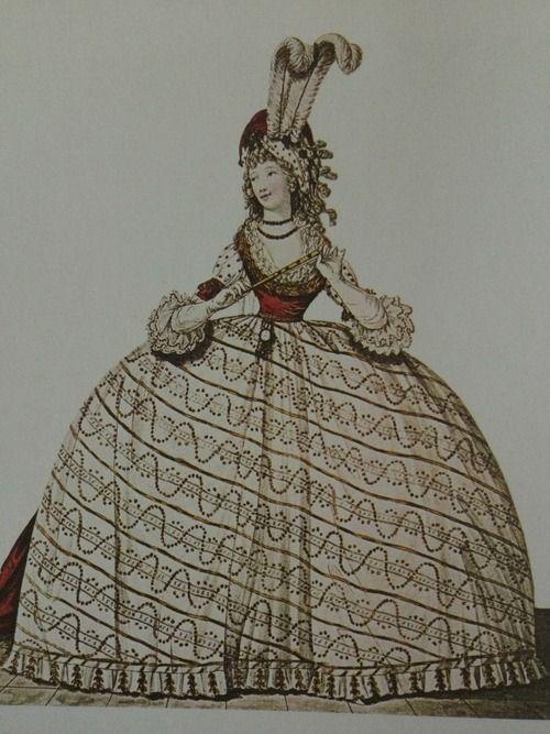 Court dress, 1700s