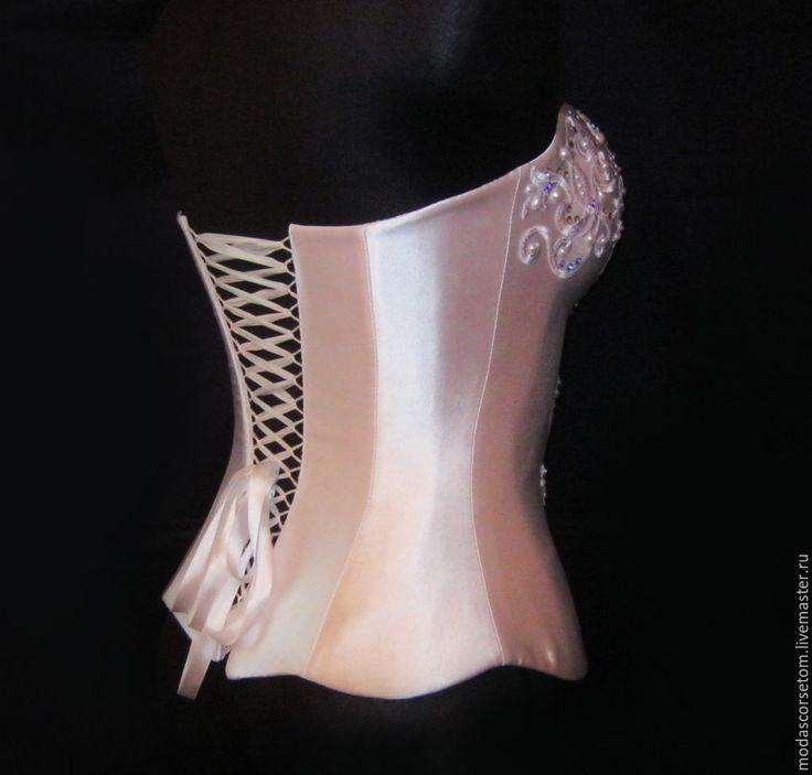 Купить Нежная лилия - белый, корсет с утяжкой, корсетное платье, корсет на заказ, корсет для вас