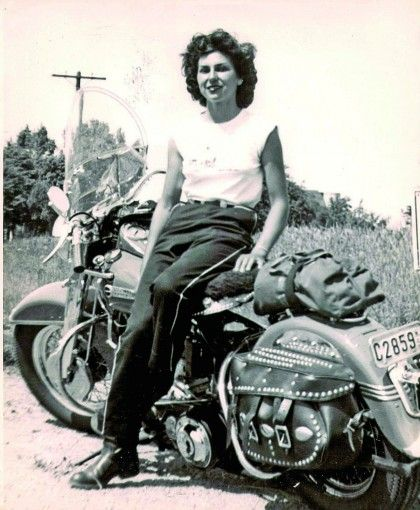 womenwhoride:  Gloria Struck, back in the 1950s in her early riding career.