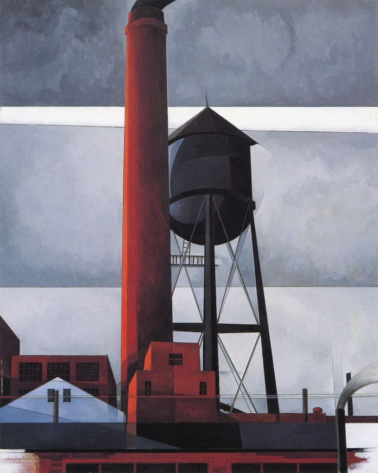 Chimney and Water Tower - Charles Demuth
