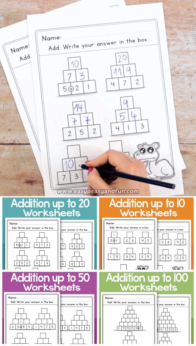 Pyramid Addition Worksheets Video Math Classroom Decorations Addition Worksheets Kindergarten Addition Worksheets