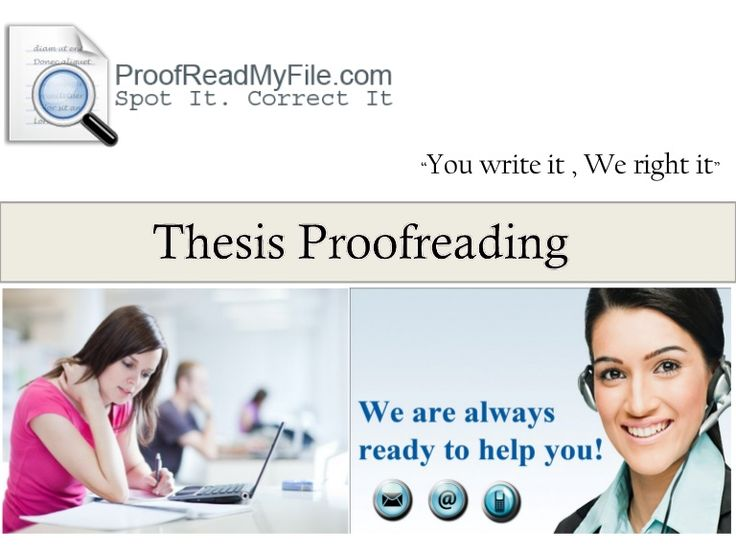 Thesis editing service