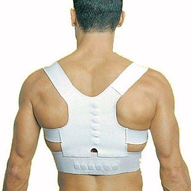 magnetoterapie+držení+těla+korektor+zpět+nosné+těleso+bolesti+zad+Bederní+pás+ortopedické+nastavitelný+ramenní+–+USD+$+3.59
