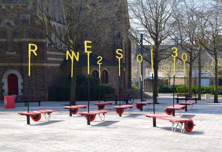 Enorme Studio plantea un enfoque radical del mobiliario urbano en la ciudad francesa de Rennes.