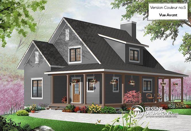 Les 268 meilleures images du tableau mod les de maison for Modele maison champetre