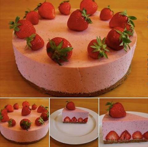 Obrázek z Recept - Jahodový pěnový dort