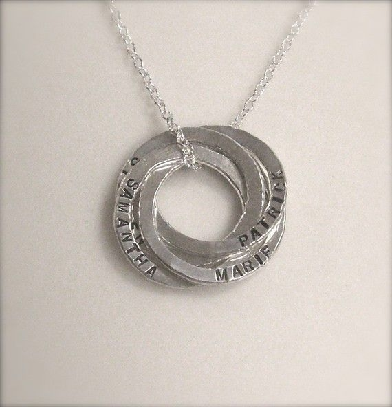 Circle of Love Necklace with names - Personalized with names