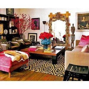 turquoise sofa retro living room | living rooms - turquoise eclectic sofa mirror bookshelf One of my ...