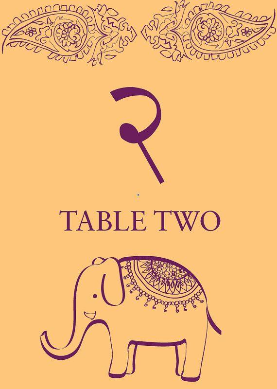 Sanskrit Elephant Table Numbers