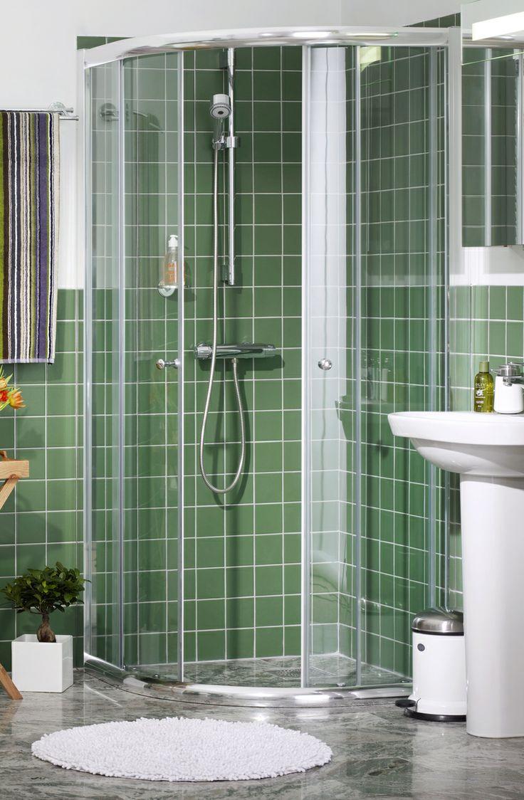Duschdörrar NQ - kromade profiler. Kommer med Clear Glass för snabb och miljövänlig rengöring. | GUSTAVSBERG