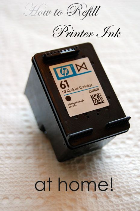 How to refill printer ink tutorial, step by step with photo's