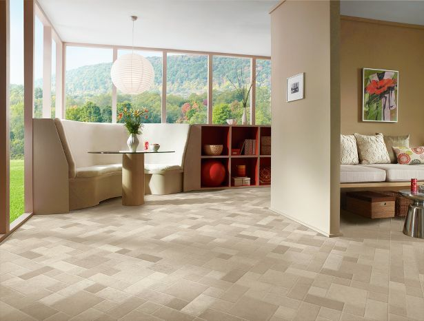 Create A Calm Retreat In Your Living Room With Light, Neutral Toned Vinyl  Sheet Flooring. This Low Maintenance Floor Pulls Together Various Shades Of  Nature ...