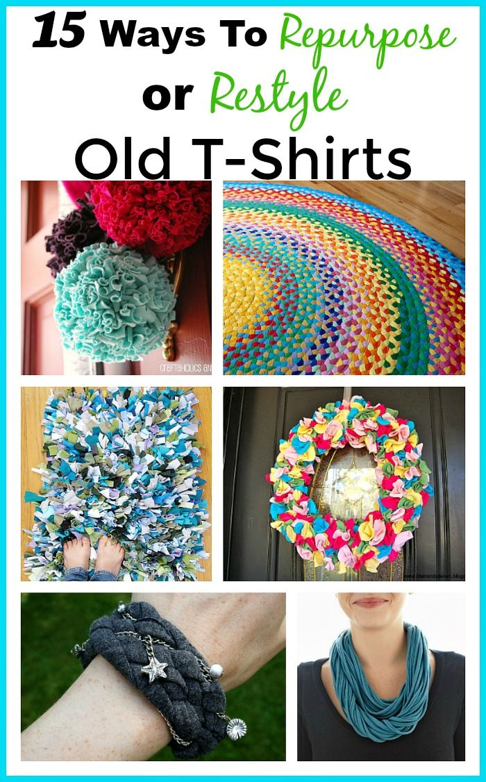 How To Repurpose Old T Shirts Living Frugally Money Saving Ideas