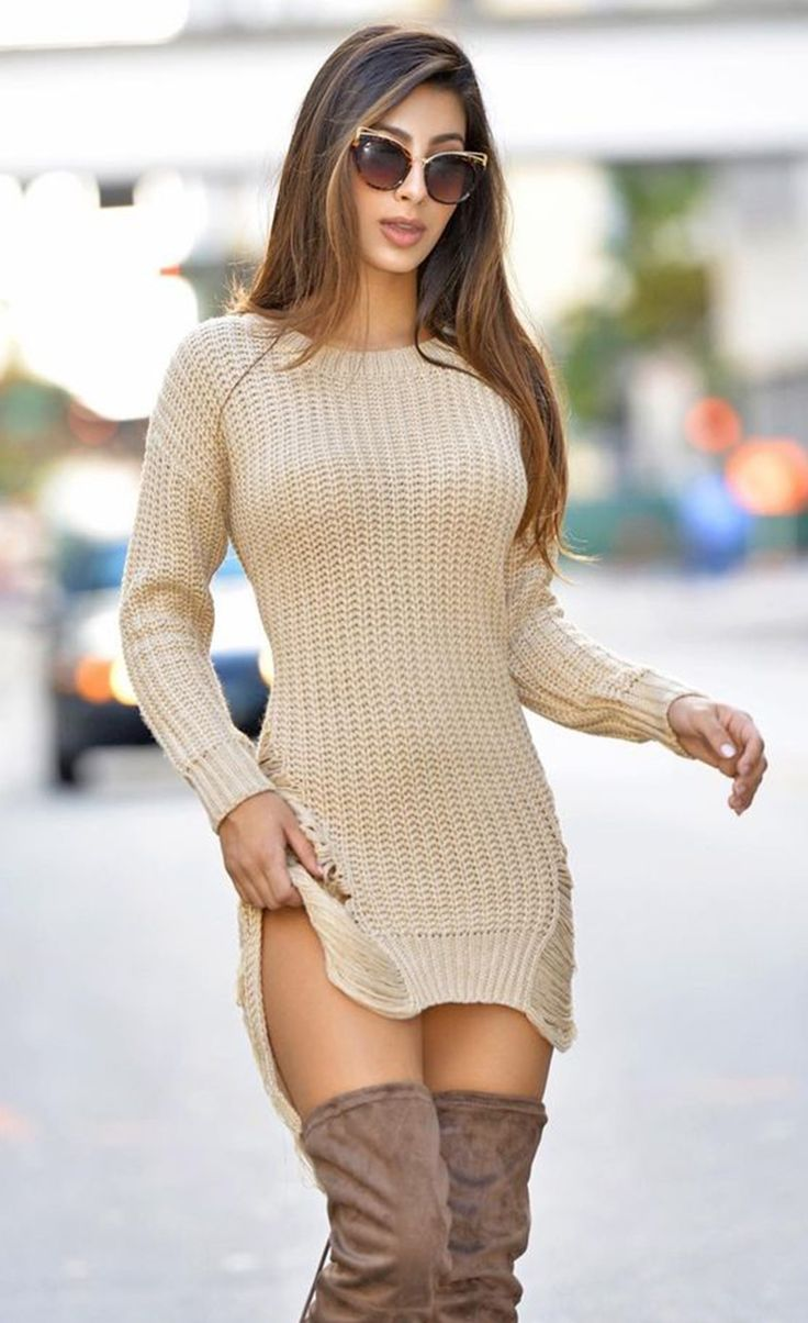 $39.99 Ripped Knit Long Sleeves Sweater