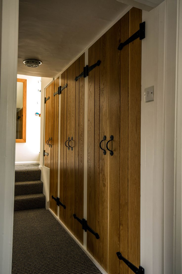 Oak Ledged and Braced doors to Bespoke Shoe Storage Cabinets