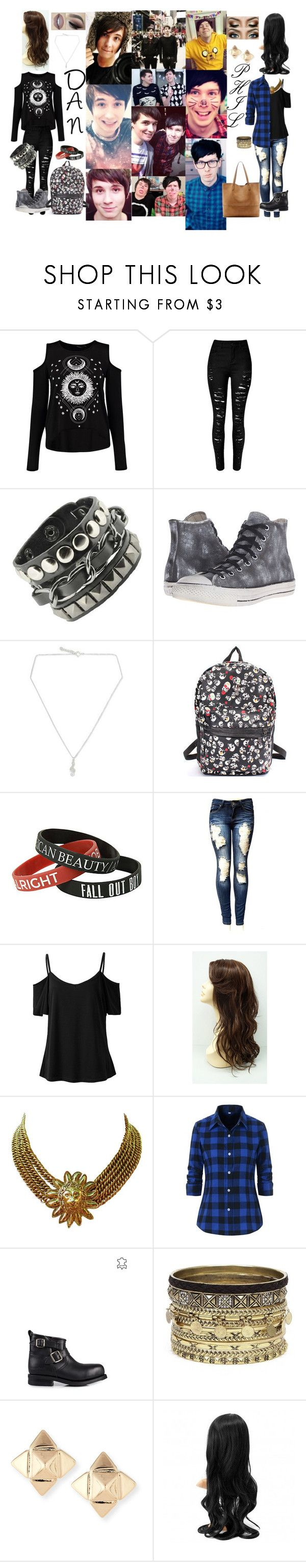 """""""FEMALE_--_**DAN & PHIL Outfit"""" by alec-enjolras on Polyvore featuring Mode, Converse, NOVICA, Chanel, Primeboots, Daytrip, Valentino und Sole Society"""