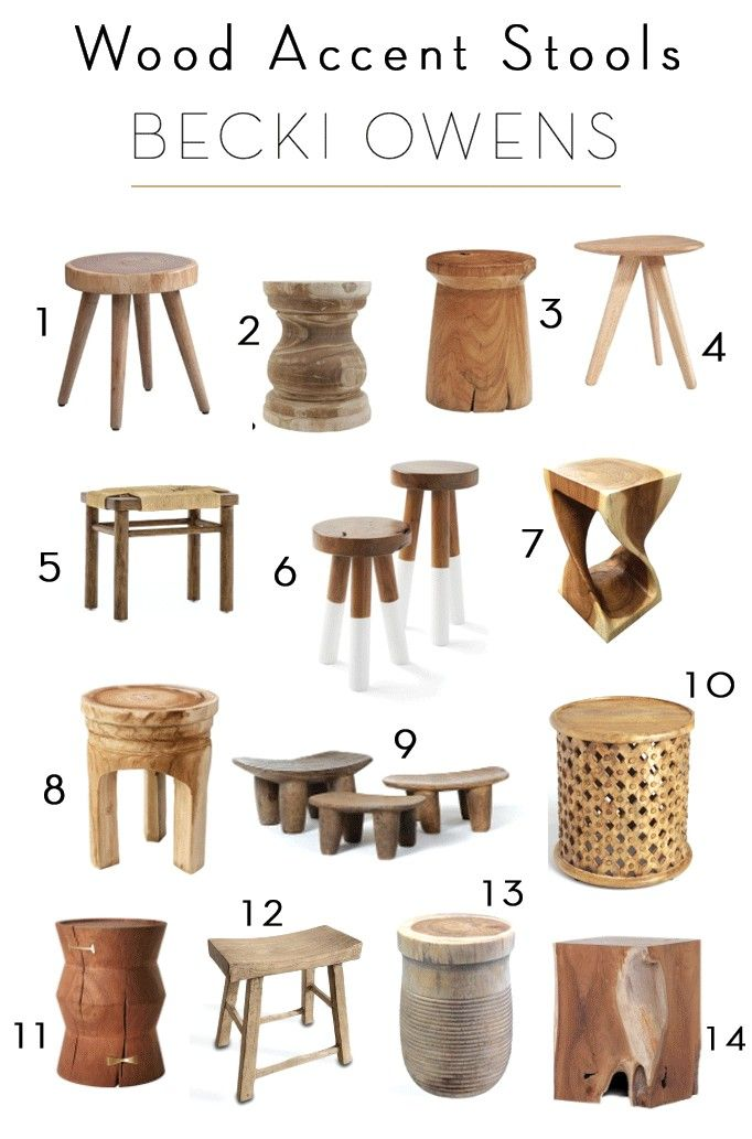 Wood Accent Stool Roundupbecki Owens Accent Stool Wood Accents