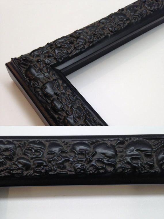 SKULL Picture Frame Skull Black 3x5 4x6 5x7 8x10 by WholesaleFrame