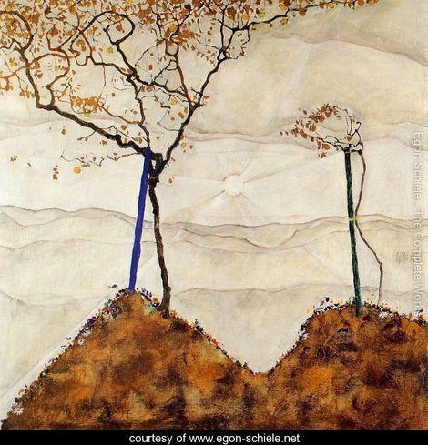 Autumn Sun I - Egon Schiele - www.egon-schiele.net