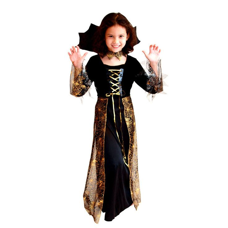 M-XL Fancy Girls Halloween Vampire Costumes Kids witch Cosplay Children Sorceress Role play Easter Christmas parade party dress