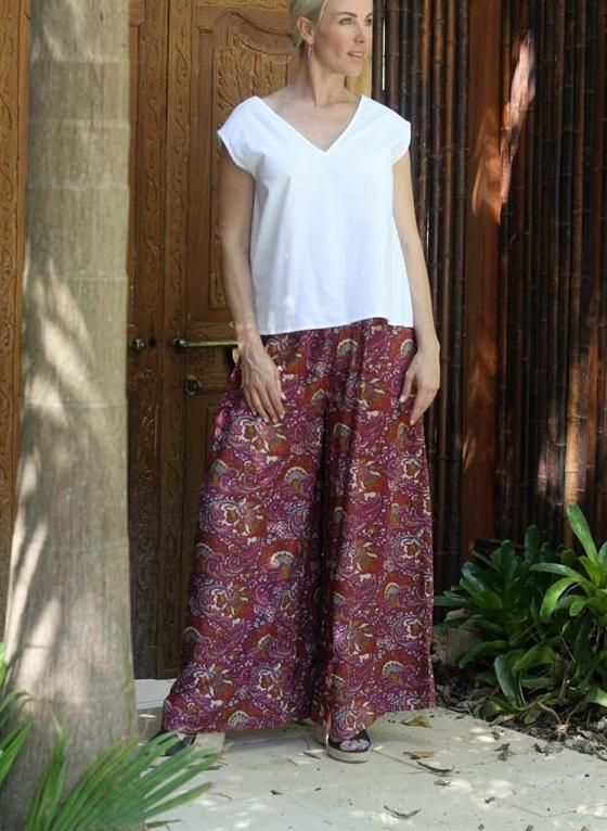 47200ad3a26a Wide Leg Gypsy Pants from Airllywood Paisley, Bohemian Chic, Summer  Fashion, Whitsundays, Australia, Over 40, Plus Size, Curvy Style, Boho  chic, ...