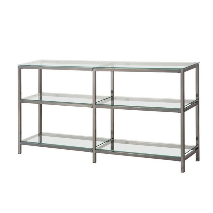 Lowest price online on all Coaster Industrial Metal Bookcase in Black - 801018