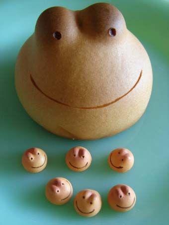 Japanese Wagashi Manjū Cake - tadpoles