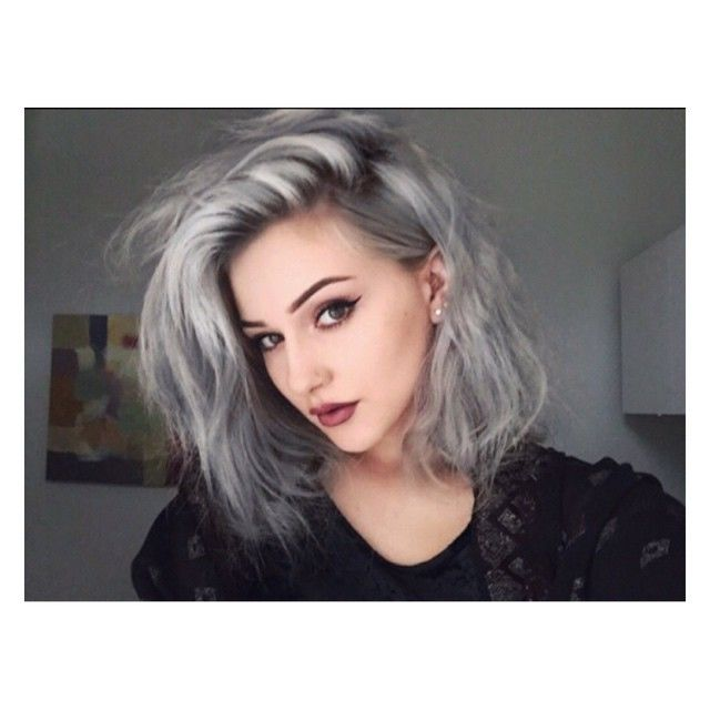 Would give anything to have this hair, don't know if it would suit me though? #silverhair #greyhair #dyed