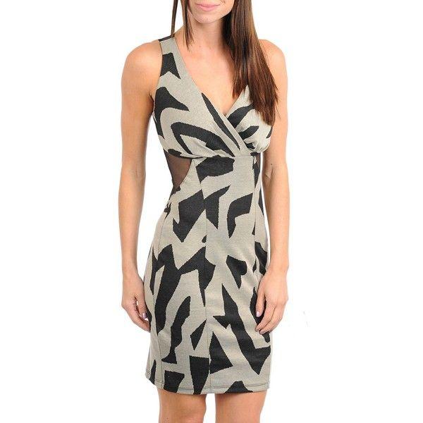 Jurk voorzien van overslag aan de voorzijde, laag uitgesneden transparante achterzijde. Gemaakt van 97% polyester en 3% spandex.    http://www.lookinggoodtoday.com/dames-kleding/jurken