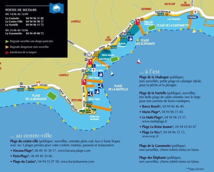 Les Plages à l'Est de Sainte-Maxime