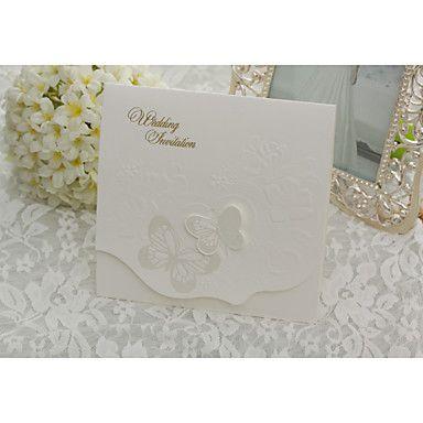 elegant butterfly bryllup invitasjon - sett av 50 – NOK kr. 393