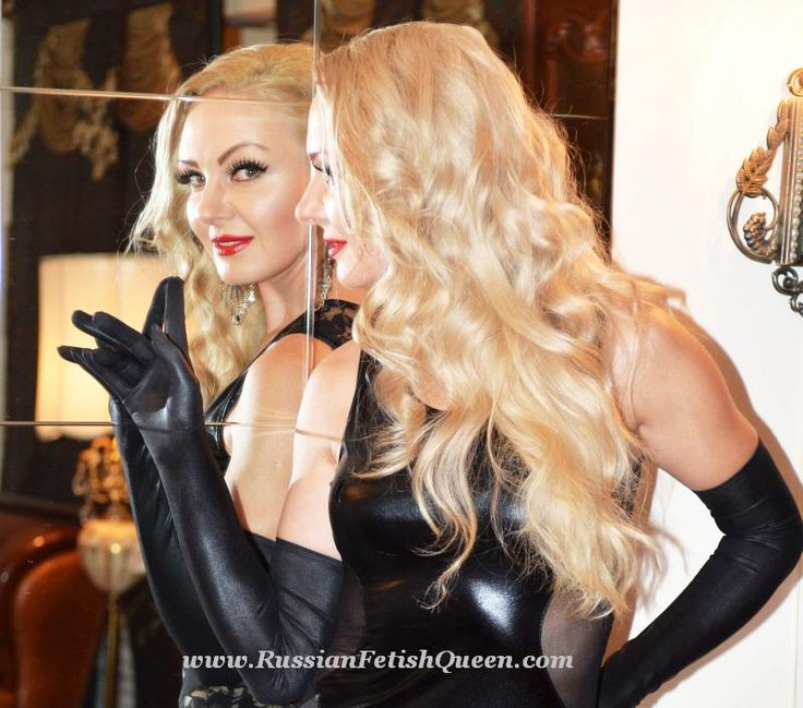 #RussianFetishQueen dressed in #black #hot #leather #dress and wear #black #satin #overelbowgloves and her adorable smile... The sexiest curve on your body is your smile. Flaunt it!