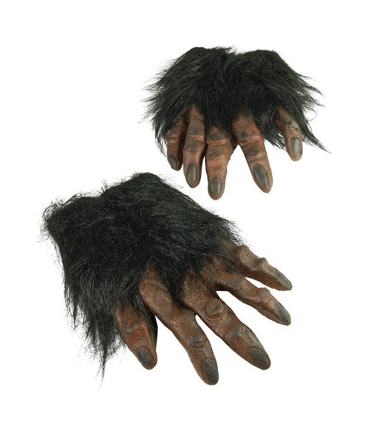 Brown Hairy Hands Halloween Werewolf Fancy Dress