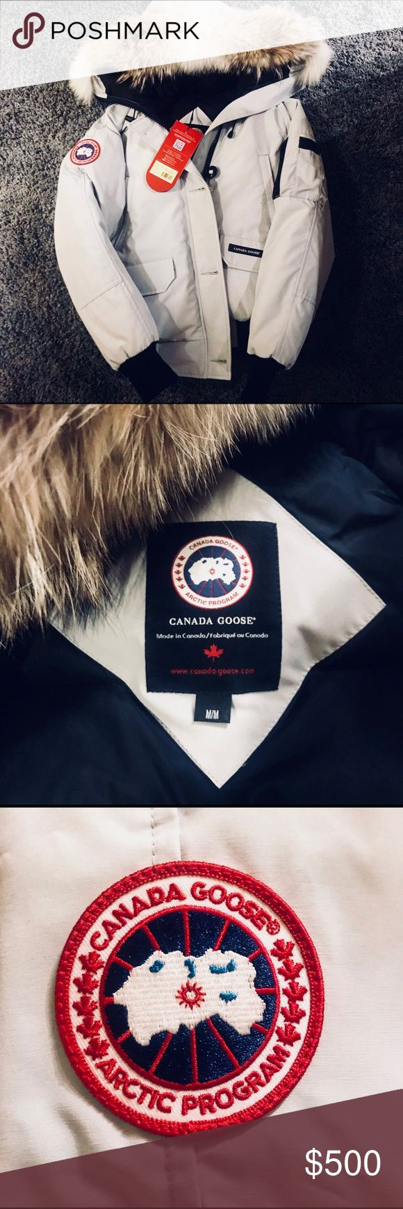 Ladies Chilliwack Bomber Size M NWT! Listed online at $750... selling this gorgeous bomber jacket to a lucky lady who needs to keep warm this winter. This bomber will definitely keep you cozy and looking hott and stylish. We love Canada Goose! $500 is as low as I will go so that Posh can verify that it is AUTHENTIC. Color is Silverbirch. Canada Goose Jackets & Coats