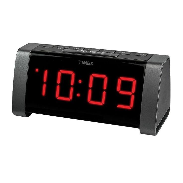 Timex AM/FM Dual Alarm Clock and Radio, Black