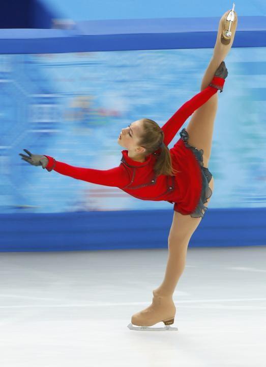 russian olympic figure skating team   Lipnitskaya of Russia during team ladies' free skating at the Sochi ...
