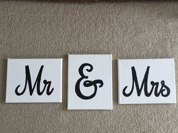 Mr. And Mrs. Canvas, Wedding Canvas, Wedding Gift, Wall Art, Just Married, Wedding Art, Wedding Present, Personalized Canvas, Bedroom Decor