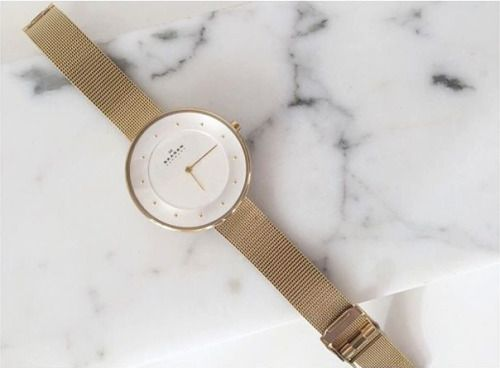 The Gitte watch in rose gold.Get yours at Mulier Store: http://www.mulierstore.com/skagen-watches/rose-gold-gitte-en