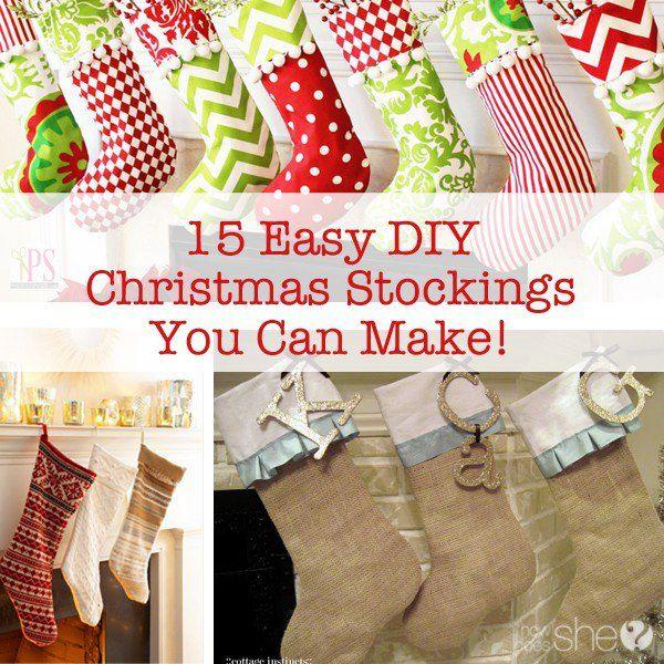 DIY and Craft.15 Easy DIY Christmas Stockings You Can Make!