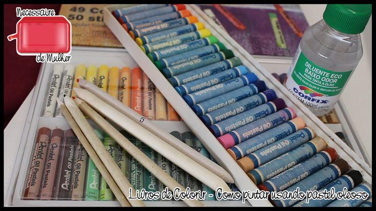 Livros de Colorir: Como usar giz pastel oleoso com esfuminho