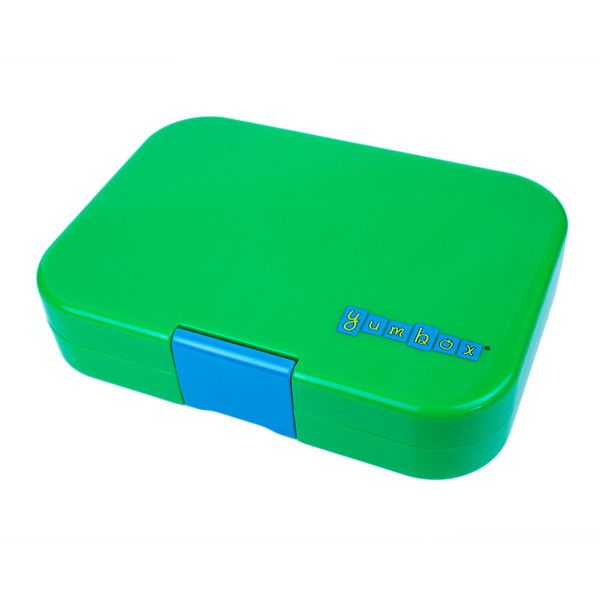 Yumbox Classic Lunchbox - Pomme Green ($38) ❤ liked on Polyvore featuring home, kitchen & dining, food storage containers, green, food boxes, lidded box, leak proof lunch box, green food storage containers and food safe storage containers
