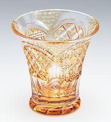 頌峰【 世界の薩摩ボカシ 】薩摩切子 ロックグラス