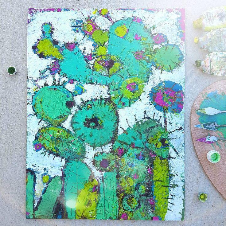 """214 Likes, 7 Comments - Anna Tarasenko (@annyouta) on Instagram: """"Kaktus inside/ кактусята вдохновляют #кактус #kaktus #annyouta #art #artist #kaktusart"""""""