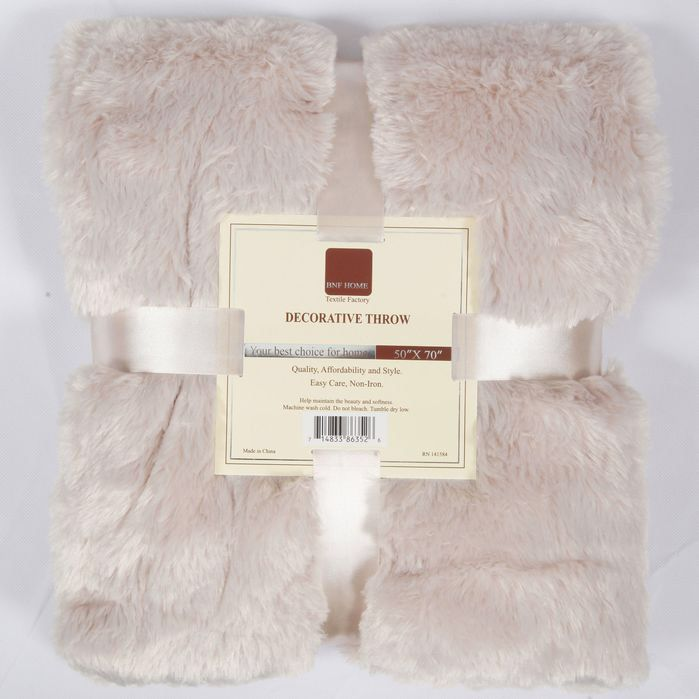 Oversized Double Sided Faux Fur Throw